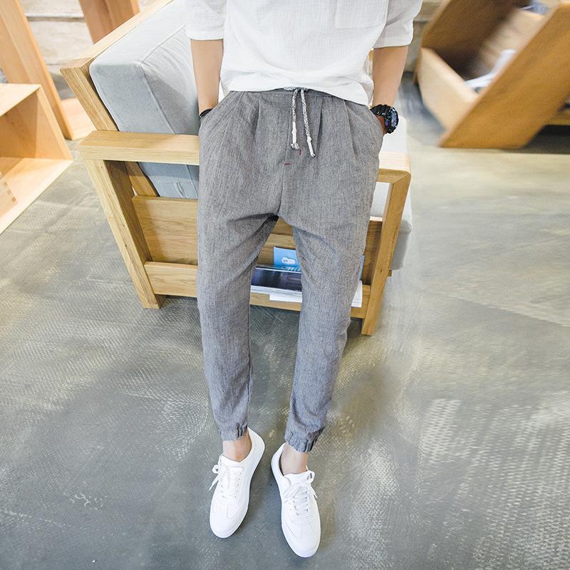 Большой размер лодыжки полосатые брюки суб-гарем брюки Мужские узкие свободные брюки Мужские 6918 P45