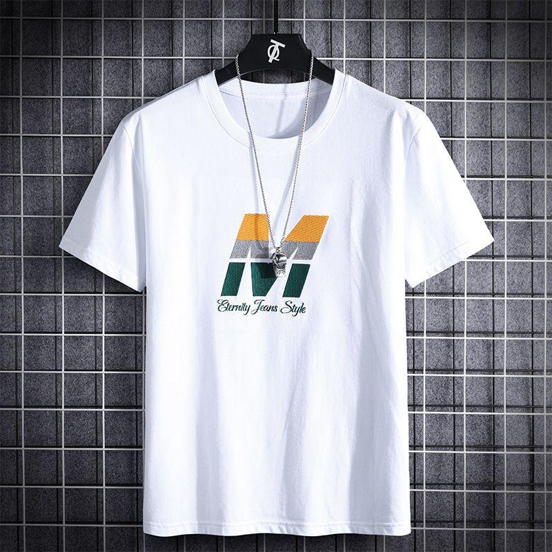 СМО HOP LOOSE Мужские футболки Мода 2020 лето короткими рукавами черный белый Tshirt Тис Плюс Азиатский Негабаритные L-6XL 7XL 8XL T200528
