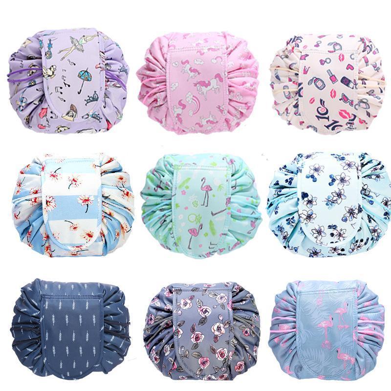 11estyles coulisse sacchetto cosmetico donne pigri sacchetti cosmetici vari stoccaggio organizzatore di stoccaggio da viaggio makeup sacchetto della borsa da toilette sacchetti GGA3200-3
