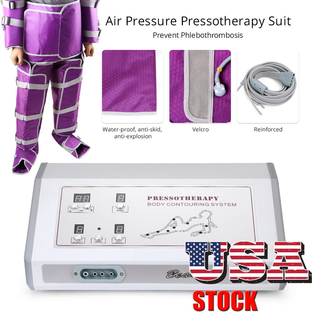 US Stock Air Pressure Pressotherapy Lymphatic Drainage SPA Weight Loss Slimming SPA Body Detox Beauty Machine