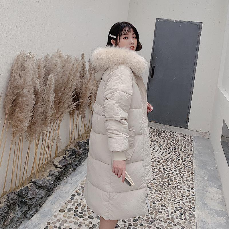 Ladies Autumn Winter New Long Coats Women's Outdoor Jackets Women Parka Korean Style Knee-length Thick Warm Loose Slimming Wild