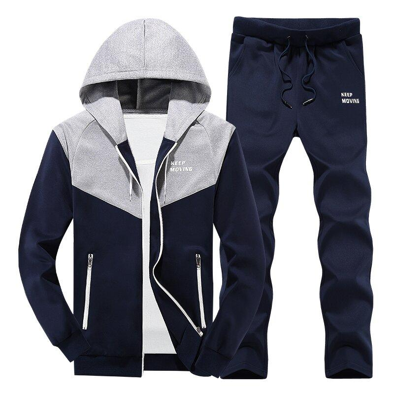 2018 new , Male and Female Couple Sportswear Sets , MYAZHOU Men's Fashion Plus Size Hooded Sportssuits, Color mosaic ladies sets
