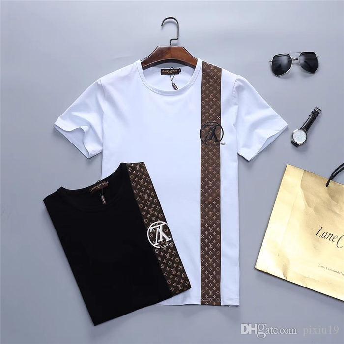 Neuer Sommer Designer kurze T-Shirts Herren-Designer Männer-T-Shirt Qualität Baumwolle Art und Weise der Männer kühles T-Shirt M-3XL 1V