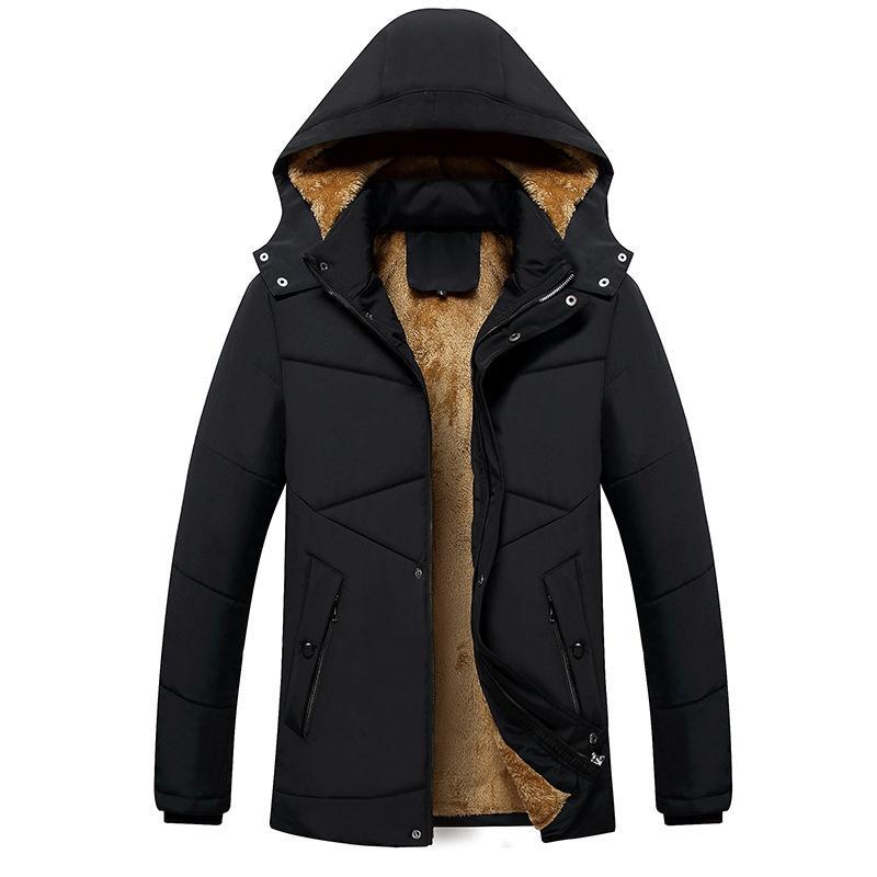 Casual stand-collar roupas de algodão acolchoado homens inverno novo estilo stand-collar Stylish Caras Jacket de Comprimento Médio