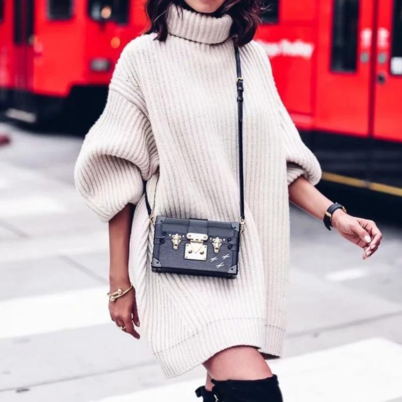 2020 осень зима Женщины трикотажные свитера пуловер Толстые Теплый Повседневный Сыпучие Длинный свитер Прицепные Крупногабаритные