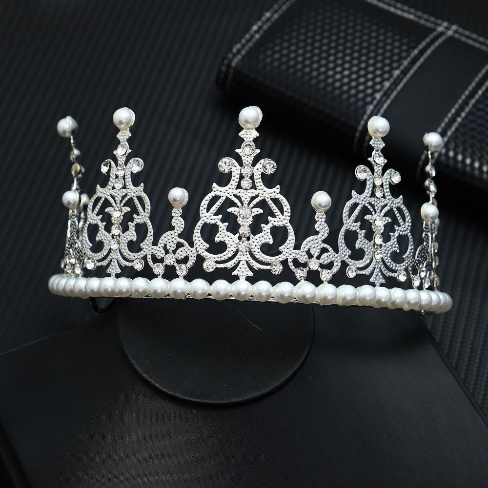 Perles Couronne Conception De Mariage Tiara Or Argent Cristal Cheveux Peigne En Épingle À Cheveux Bijoux De Mariée Accessoires Livraison Gratuite