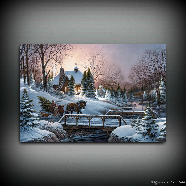 HD stampato Terry Redlin olio su tela decorazione della casa di arte della parete su tela intestazione casa senza cornice
