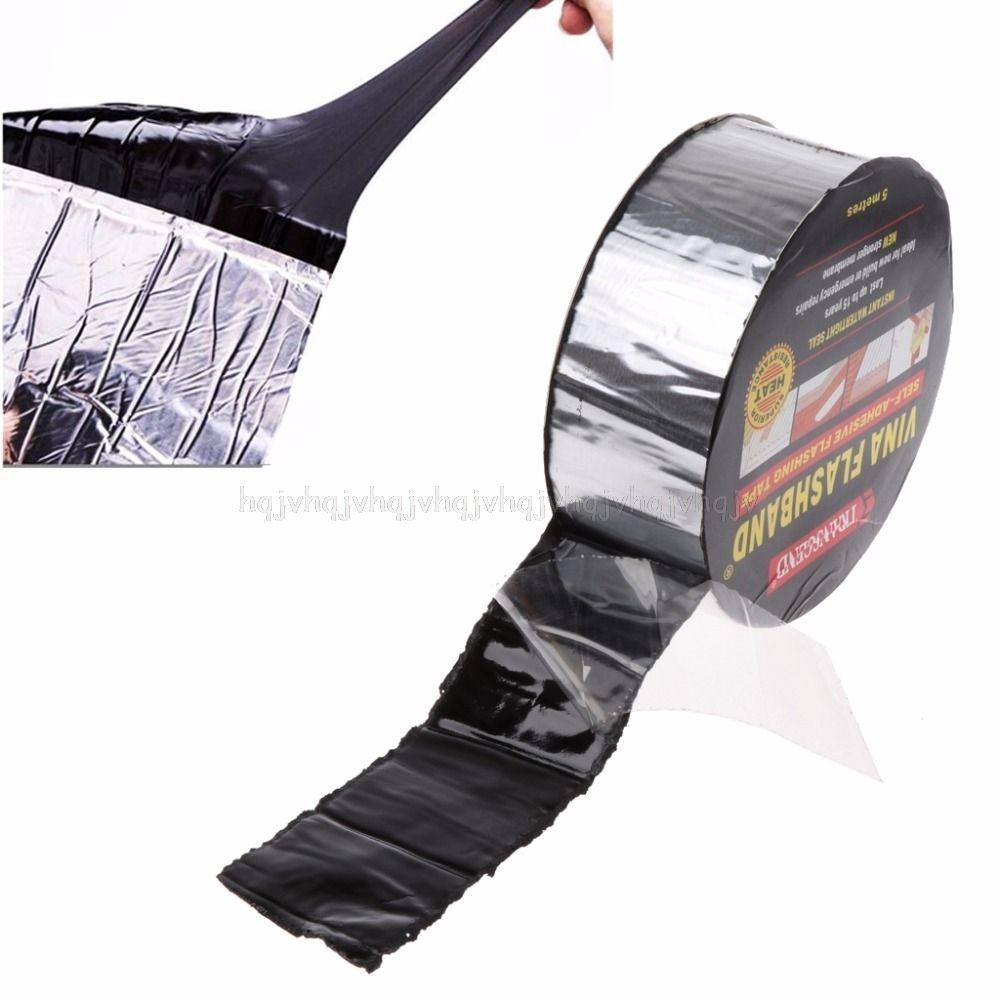 Aluminum Foil Butyl Rubber Tape Adhesive Sealing Best For Rv Roof Marine Repair Q190610