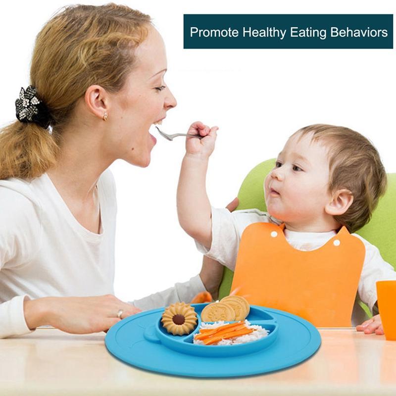 New Kids Silicone Placa Anti Skid Alimentação Louça Baby Food Container infantil Dinnerware Set Pratos Crianças Bowls Placemat