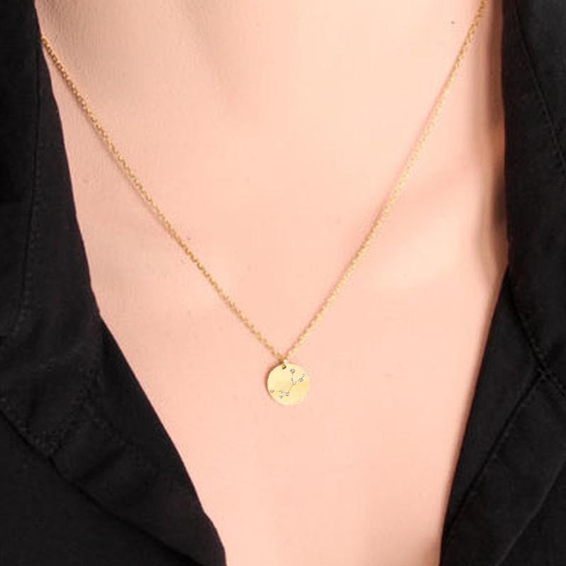 Mode vintage à longue chaîne Collier tendance pour femmes filles Charm ronde Choker Bijoux Pendentif Collier