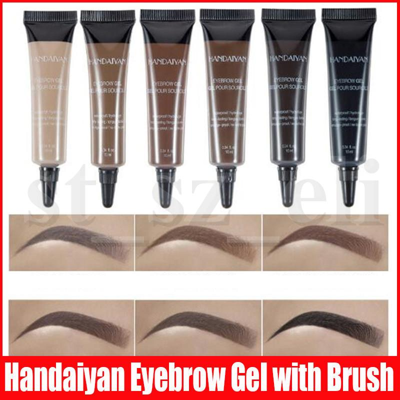HANDAIYAN Eyebrow Cream Gel Professional Makeup Eyebrow Pen Long Lasting Waterproof eyebrow with Brush 6 Colors