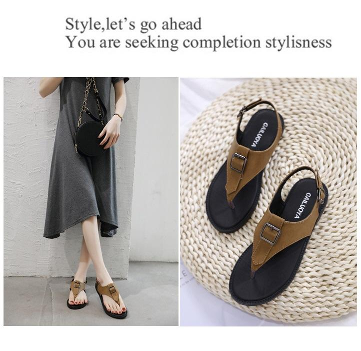 2020 yeni yaz moda vahşi Roman ayakkabılar büyük boy sandalet kadın düz balıksırtı kadın sandalet