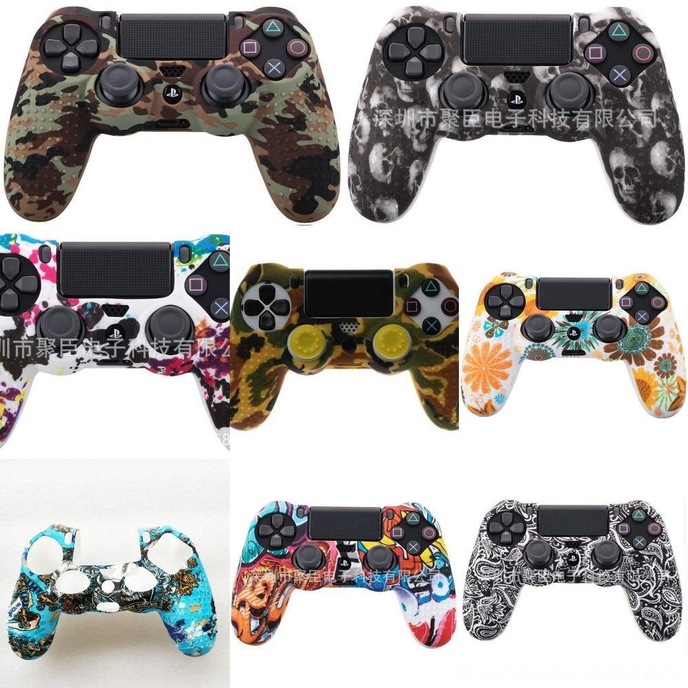 cF6MQ 4 couleurs Anti-Housse en silicone Sony Housse pour la peau PlayStation Dualshock 4 PS4 DS4 Pro Controller Slim