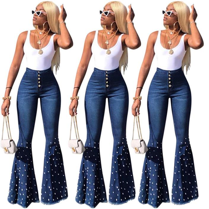 Women brand Flare Jeans Pant Slim Sexy Vintage Bootcut Wide Leg Flared Jeans Office trousers Lady Bell Bottoms Denim Pants3469