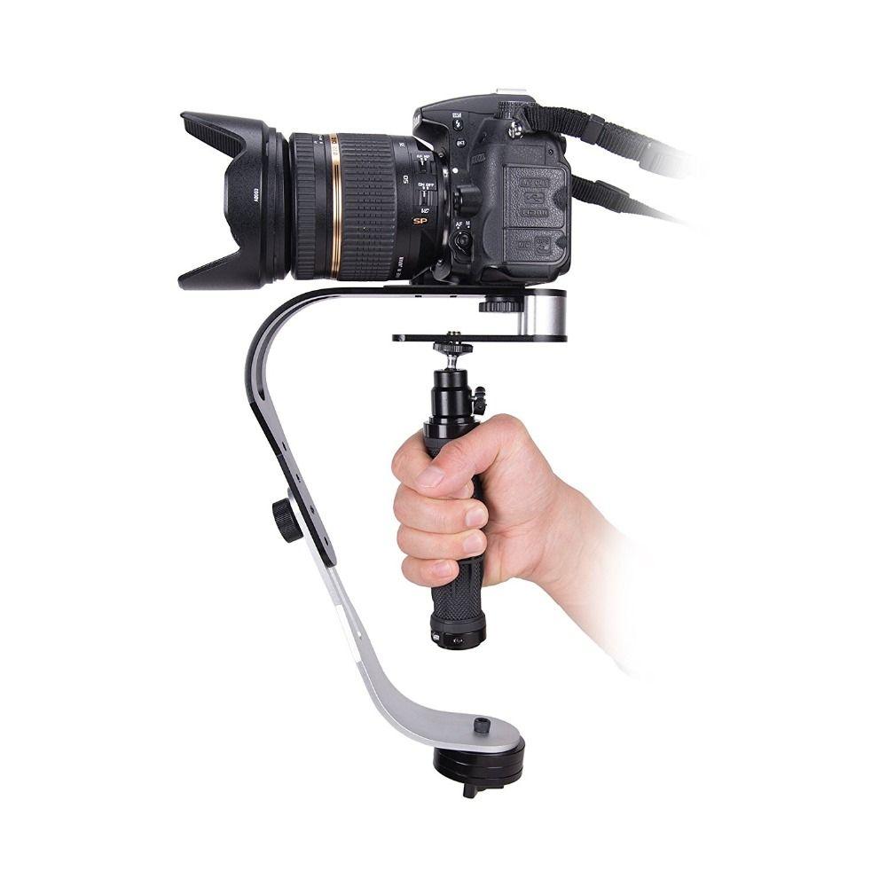 Handheld Video Stabilizer Camera Steadicam Stabilizer for Canon 800D 77D 6D 7D 6DII 7DII Nikon Sony Gopro Hero Cameras Phone DSLR Sports DV