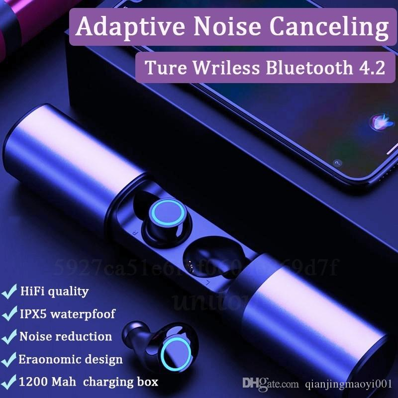 TWS Wireless Earbuds True Mini Wireless Bluetooth Earbuds 20H Playtime 3D Stereo Sound Wireless Headphones In Ear Earphone With Charger Box