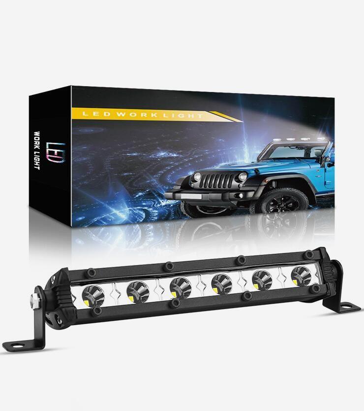Winsun 1PC 6 inch Led Light Bar Offroad Spot Work Light 18W Barre Led Working Lights Beams Car Accessories for Truck ATV 4x4 SUV 12V