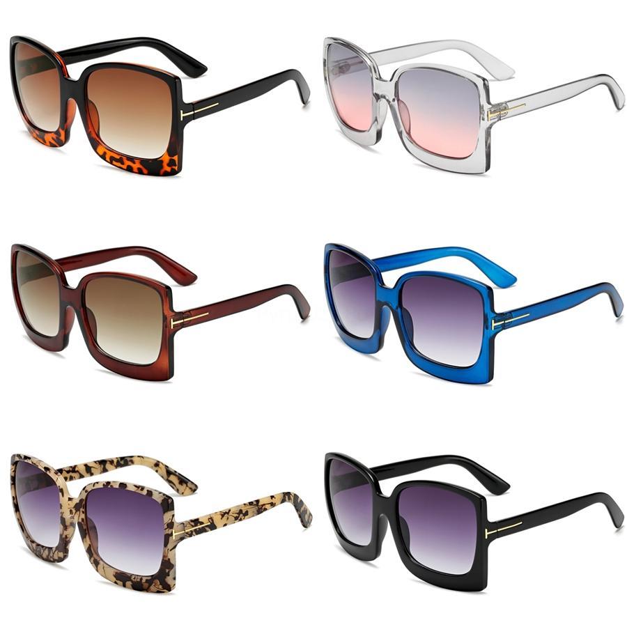 Shauna Kristal Katlama Pilot Güneş Kadınlar Oversize Temizle Pembe Mavi Sarı Güneş Gözlükleri Erkekler # 88907