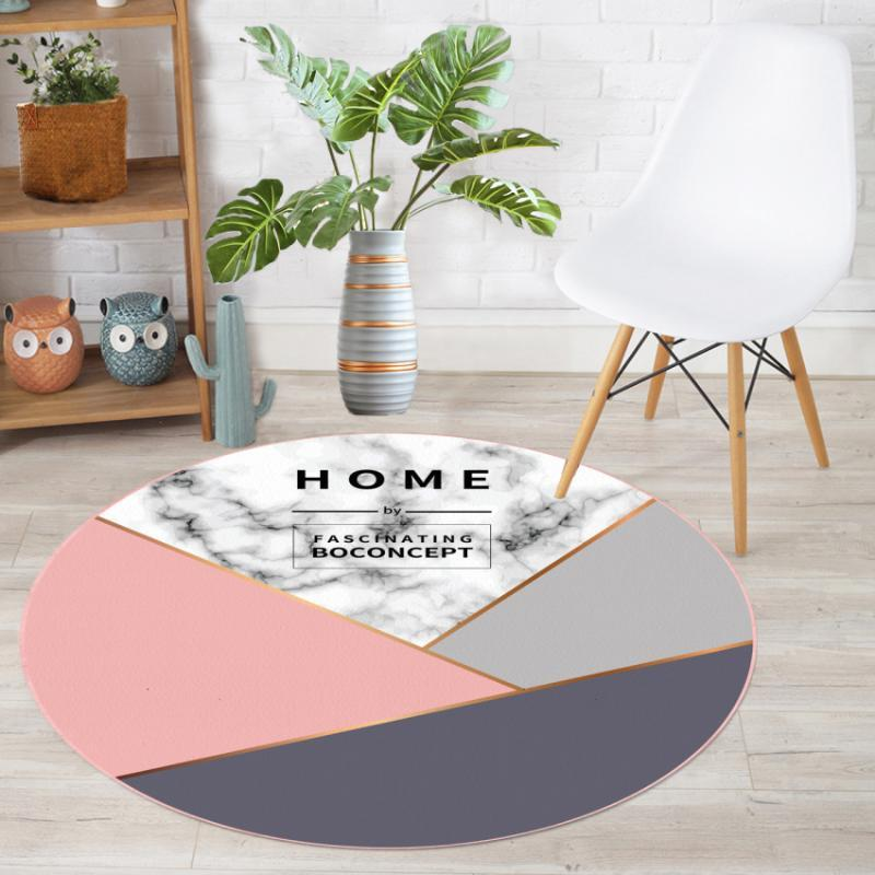 máquina de luz nórdica lavable redonda sala de estar sala de sala de estudio oficina alfombra mesa de café dormitorio del piso de la alfombra
