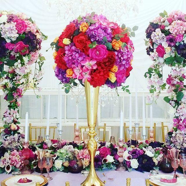 Otel malzemeleri çiçek dekorasyon düğün DIY parti dekor lüks sahne düğün centerpieces masa vazo ev dekor çiçek tutucu süs
