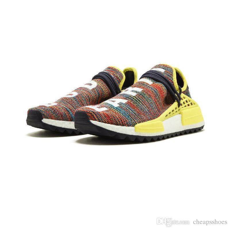 2019 New Pharrell Williams Human Race Hu Nmd Trail Mens Designer Sports Running Shoes For Men Sneakers Women Casual Trainers Us5.5-us11