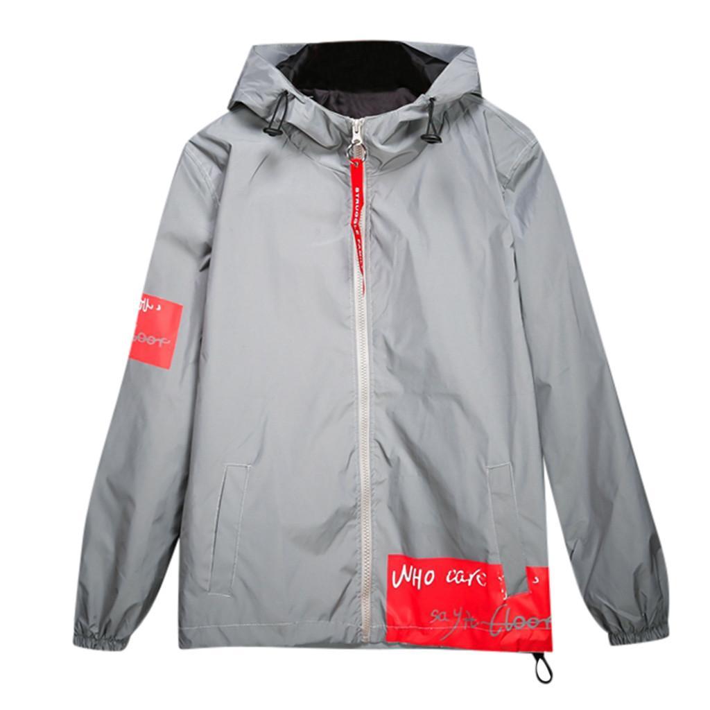 Reißverschluss Frauen Liebhaber Im Freien Paar Voll Neue Reflektierende Freizeit Großhandel Männer Jacken Jacke Mäntel Kleidung ZkXPiu