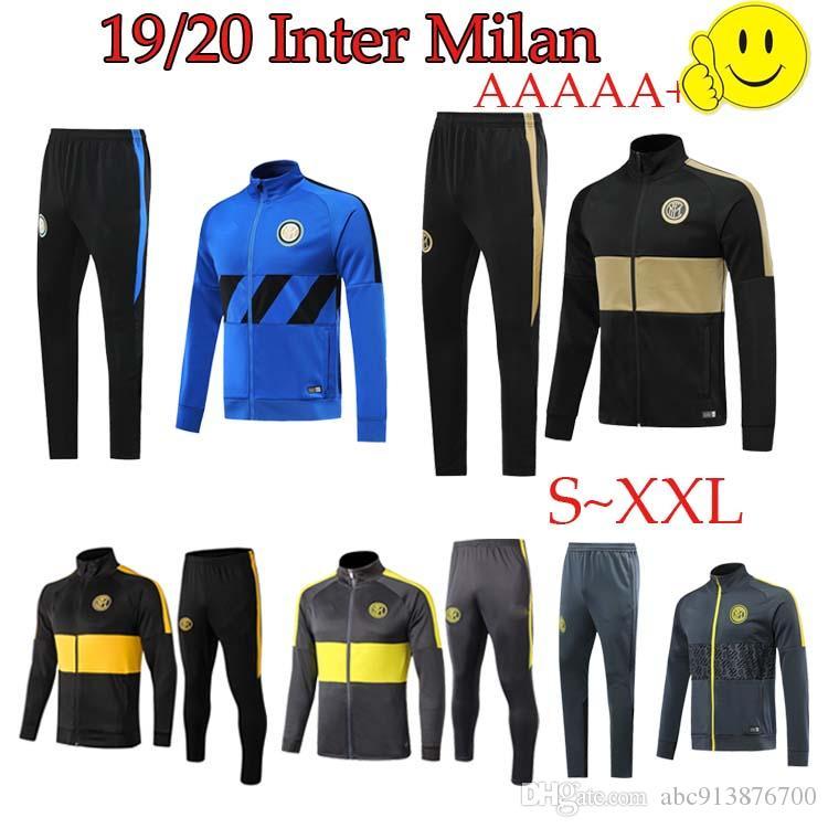 2019 2020 إنتر ميلان لكرة القدم قميص كرة القدم ALEXIS رياضية معطف التدريب ارتداء يحدد LUKAKU السترة سترة 19/20 camiseta دي فوتبول عدة