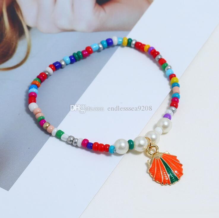 2019 nuovo arrivo stile europeo e americano alla moda perline colorate bracciali fatti a mano bracciali per le donne