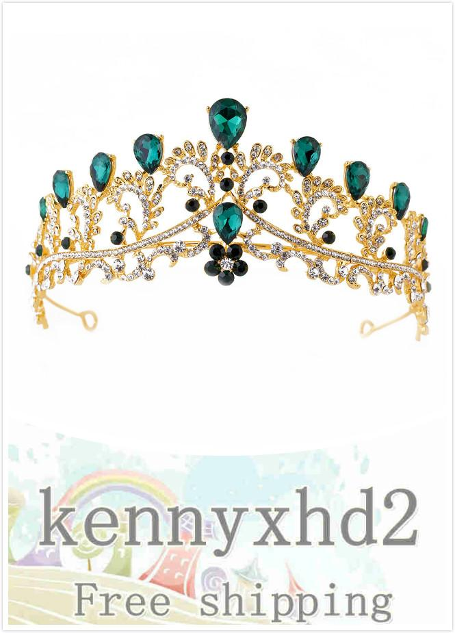 H1124 Barock Mehrfarben Luxus Brautkrone Brautaccessoires europäisches Haar-Legierung Strass Hochzeit Kopfschmuck