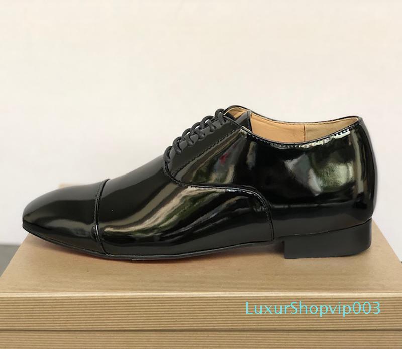Mens Red Bottom Dandelion Spikes Schuhe Designer Greggo Orlato flache Schuhe aus schwarzem Lackleder sude Samt loafer Partei-Kleid-Schuhe mit Kasten