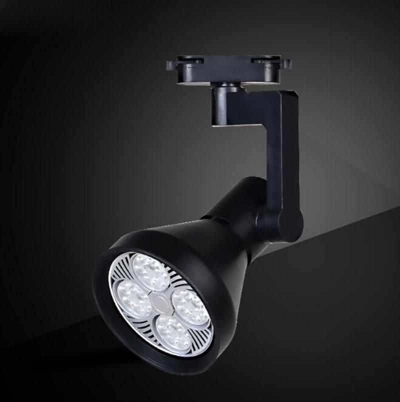Fanlive 20pcs / lot PAR30 LED Track Lamp Spotlights Negozio di abbigliamento Faretti Rail Track Lamp Surface montato luci a binario