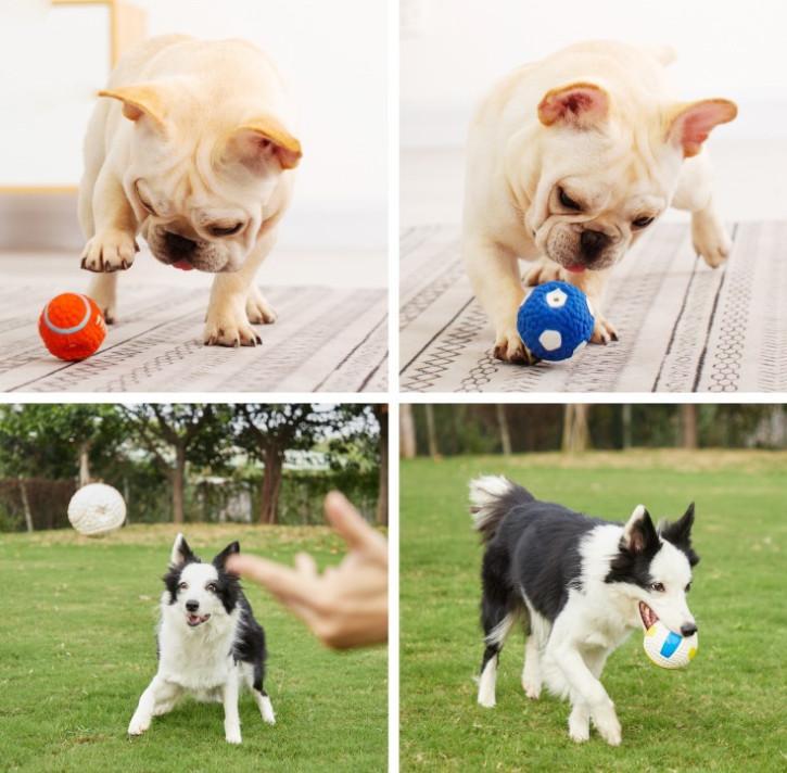 أحدث لعبة الحيوانات الأليفة لعبة الكرة الكلب يلقي الكرة بعيدا، فإن الكلب يبدو عندما يعض، لاتكس كرة القدم، وحرية الملاحة