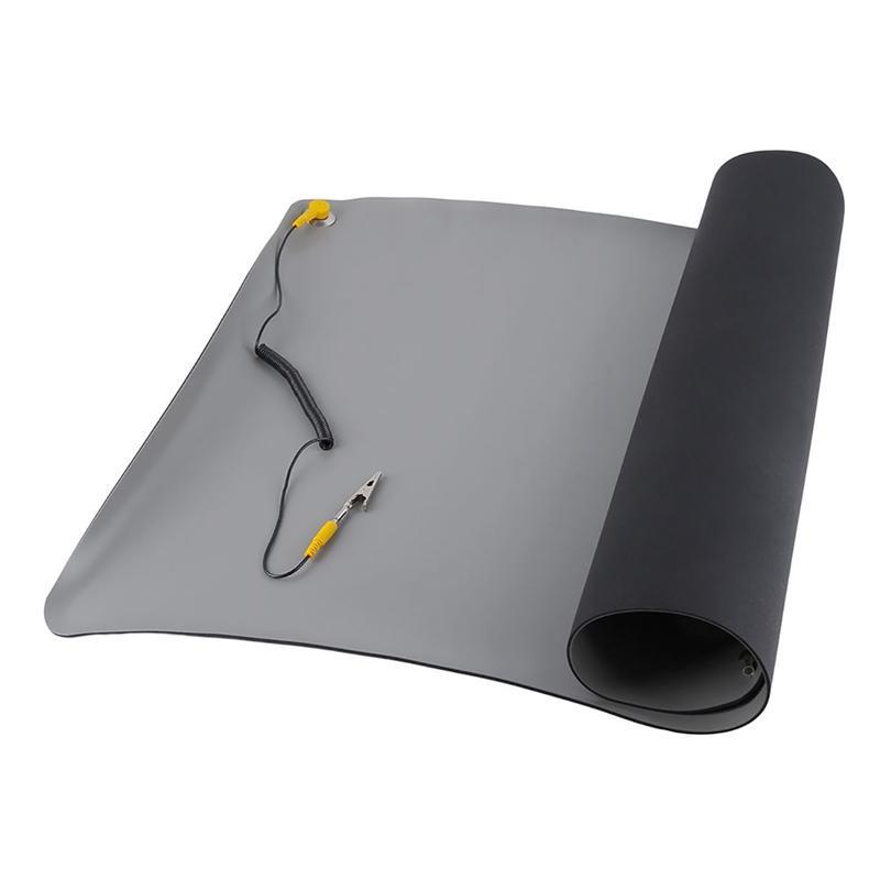Durable de escritorio estera anti estático de silicona Conexión a tierra ESD Mats 700x500Mm + Cable para el ordenador portátil PC Herramientas de reparación