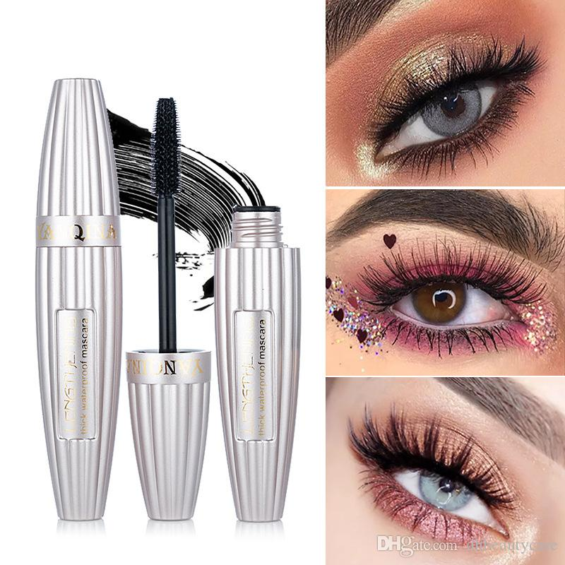 실크 마스카라 길어 두꺼운 볼륨 속눈썹 검은 컬링 지속 마스카라 매력적인 눈 화장 무료 배송 쿨