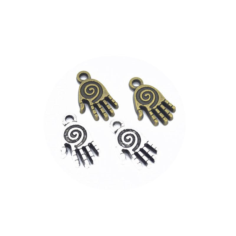 25pcs Charms Hand 19x11mm Antik Silber Bronze Schmucksachen, den Charme passender Ohrring Halsketten-Armband Kunst