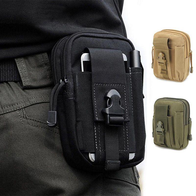 Bolsa de cintura de la lona de los hombres Fanny correa del paquete de teléfono pierna de la gota bolsas de cremallera impermeables paquetes de la cintura Teléfono Celular 6,8 pulgadas Bum bolsa