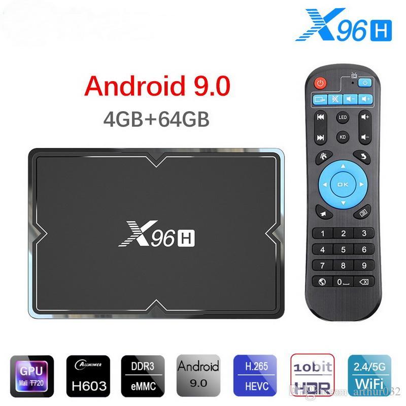 X96H Android 9.0 TV Box 4GB 64GB H603 Quad core 6K 2.4G 5G Dual Wifi BT4.1 Google Player Set top box X96 H 4GB 32GB TX6