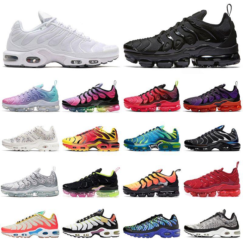 nike air max vapormax plus tn Koşu ayakkabıları kadın erkek Üçlü Siyah Beyaz Pembe RENG REGENCY MOR LEMON LIME Volt Megatron erkek eğitmenler Spor Sneakers 36-45