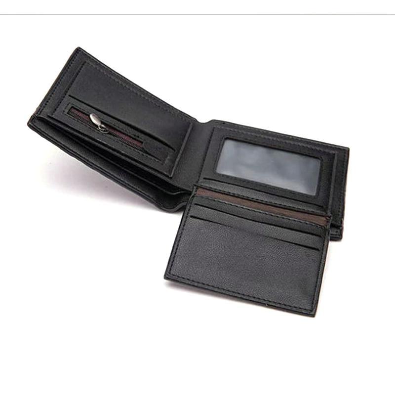 Diseñador-hombres de la cartera del bolsillo de cocodrilo corto garra patrón de cuero sintético Carteras de la cremallera de la vendimia frunce
