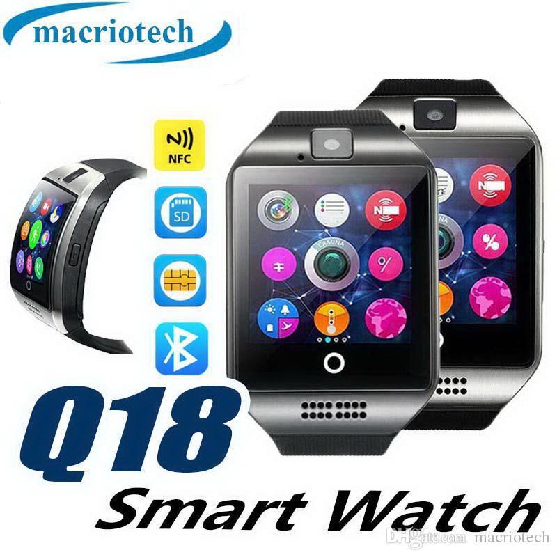 Smartwatch Q18 SIM TF Card Podómetro Bluetooth Hombres Mujeres Sleep Fitness Activity Tracker PK V8 Smart Watch para teléfono Android