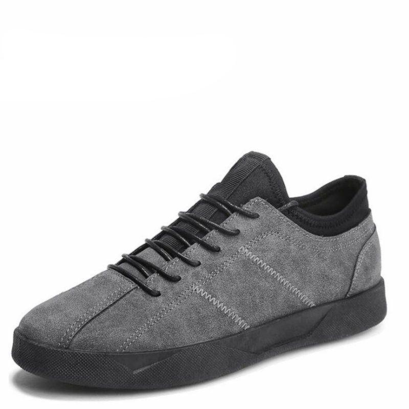 Rahat Erkekler Rahat Hakiki Düz Çalışma Snesker Ayakkabı Hafif Ayakkabı Yumuşak Deri Kauçuk Outsole Adam Jdkum