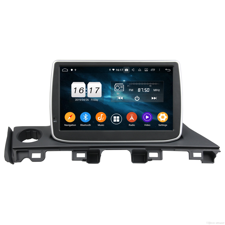 """4 기가 바이트 + 64 기가 바이트 DPS 옥타 코어 9 """"마즈다 6 Atenza 2017에 대한 안드로이드 9.0 차량용 DVD 플레이어 자동차 라디오 GPS 블루투스 4.2 와이파이 USB DVR OBD 미러 링크"""