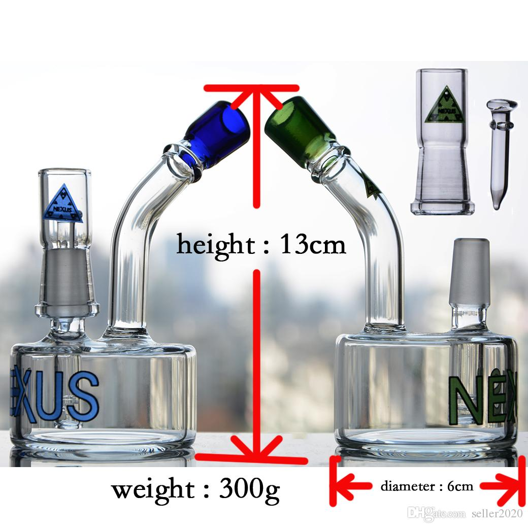 Nexus Glass Water Pipes Green Heady Glass Bong Recycler Oil Rigs Smoking Pipes Function beaker Bongs Bubbler Hookhs 5.1 inchs