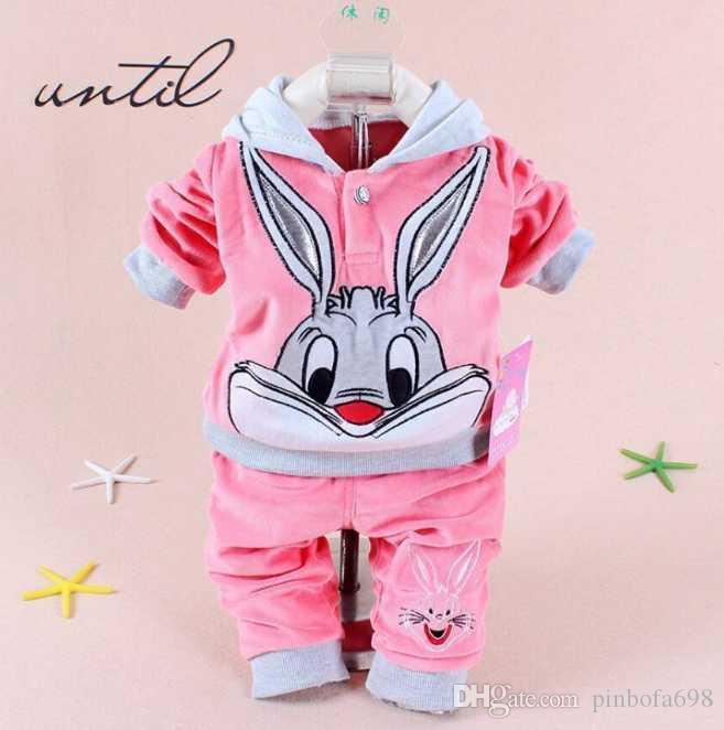 0-24 ay Moda Erkek Çocuklar Kız Giyim İlkbahar Sonbahar Bebek Marka Ceket Pantolon ayarlar 2pcs / Çocuk Spor Giyim Bebek eşofman ayarlar