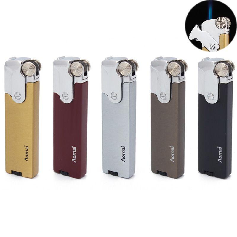 Jet Torch Lighter con dritto blu fiamma Mola Ricaricabile gonfiabile accendini per Cigar Cigarette cucina