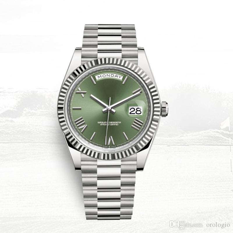 homem relógio automático homens clássicos Day-Date relógios 40 milímetros full 5ATM de aço inoxidável impermeável orologio Super luminosa