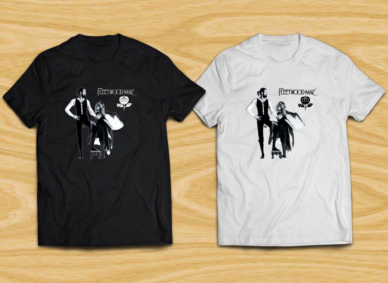 FleetWood Mac S M L XL Short Sleeves Black T-Shirt