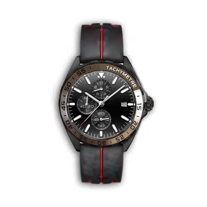 Mens relógios esportivos de luxo 2020 relojes grife f1 superluminova montre de luxe VK quartzo relógio de pulseira de borracha cronógrafo pulseira