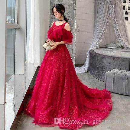 rote Quasten Perlen Schwanz langes Kleid mittelalterliches Kleid Prinzessin Mittelalter Renaissance Kleid Königin Cosplay Victoria Kleid