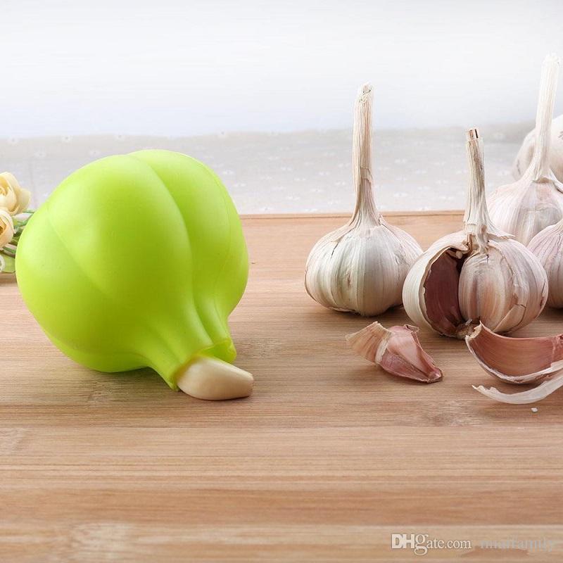 Silikon Sarımsak Soyucu Yaratıcı Mutfak Pratik Sarımsak Zesters Aracı Ev Süper Yumuşak Sarımsak Soyma Cihaz Mutfak Aracı YENİ